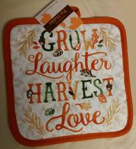 AUTUMN theme KITCHEN SET 2-piece Towel Potholder Grow Laughter Harvest Love NEW image 2