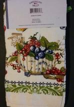 BERRY FRUIT KITCHEN SET 7pc Towels Potholders Oven Mitt Cloths Berries Green NEW image 2
