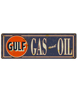 "Gulf Gas & Oil Sign. 6"" x 18"" - $19.80"