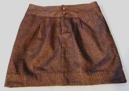 Gap 8 Skirt Pinstriped Brown Above Knee A Line Lined Stretch Womens Women - $5.24