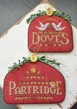 12 Days: Partridge Dove cross stitch chart Hands On Design - $9.00
