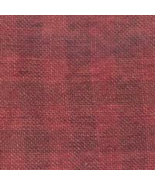 FABRIC CUT 28ct aztec red gingham linen 36x27 1... - $65.00