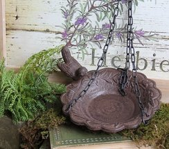 Birdbath Hanging Feeder Cast Iron Patio Garden ... - $28.03