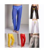 Men' Fashion Sheer See-through Sexy Long Pants Home Sport Yoga Underwear Loose T - $23.46