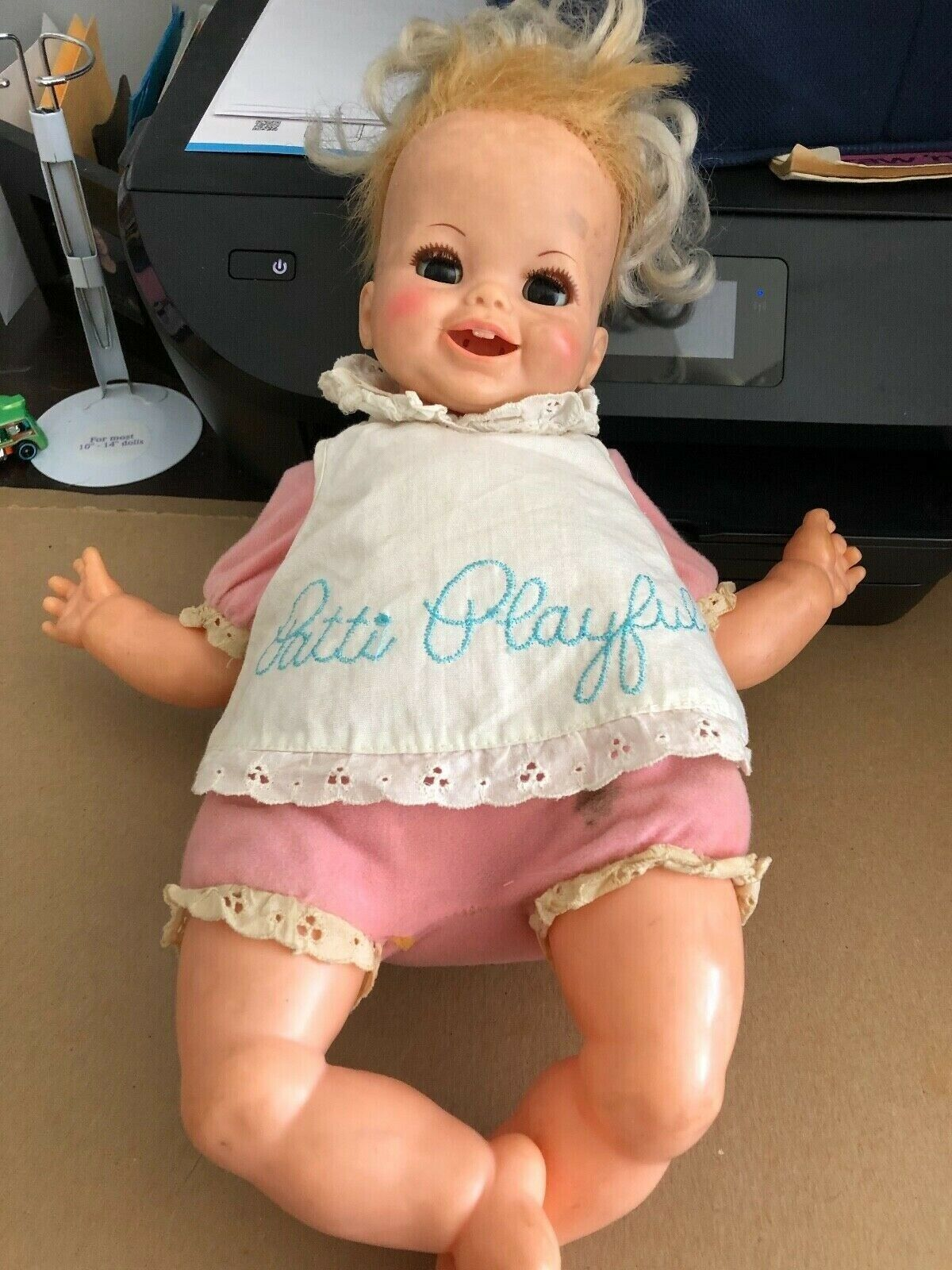 "Primary image for Pre Owned Vintage IDEAL PATTI PLAYFUL DOLL 16"" 1970 Apron Doll in Fair Condtion"