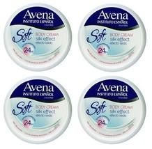 4x AVENA Soft Body Cream SILK EFFECT w/ Silk Protein Fast Absorbing & Sm... - $22.99