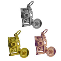 Rose / Gold Plated / 925 Sterling silver Camera Photography Charm Flash Jewelry - $13.85+