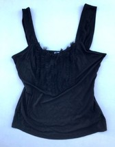 White House Black Market Ruffle & Lace Trim Sleeveless Tank Blouse M - $14.67