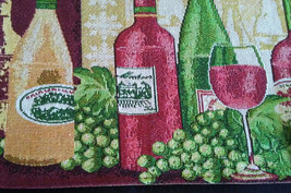 WINE TAPESTRY PLACEMATS Set of 4 Red White Wine Bottles Grapes Fabric 13x19 NEW image 2