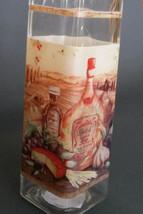 OLIVE OIL VINEGAR DISPENSER Vineyard Mediterranean Tuscan Glass Bottle Cruet NEW image 2