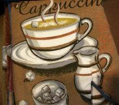 COFFEE KITCHEN SET 5-pc Towel Potholder Oven Mitt Cloths Brown Blue Cafe Mocha image 3