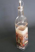 OLIVE OIL VINEGAR DISPENSER Vineyard Mediterranean Tuscan Glass Bottle Cruet NEW image 4