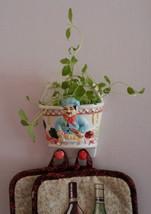 FAT CHEF HANGING POT Vegetables Ceramic Wall Hanger Key Chain Holder NEW image 2