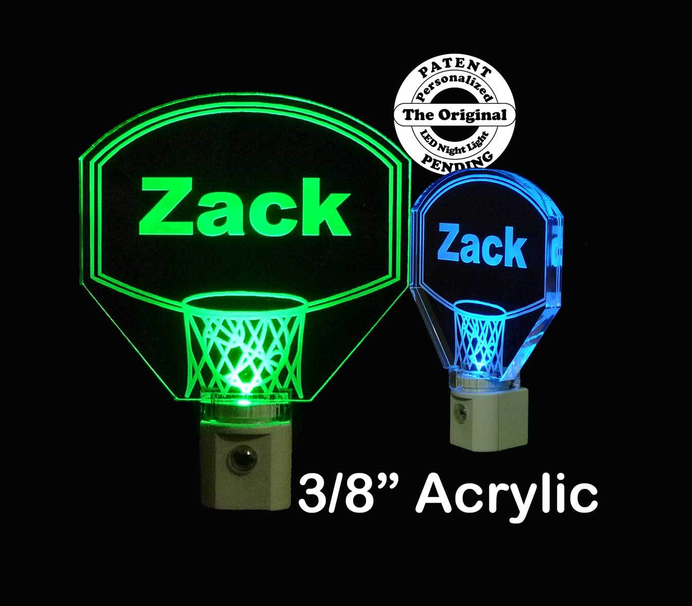 Personalized Kids Basketball Hoop LED Night Light with Name