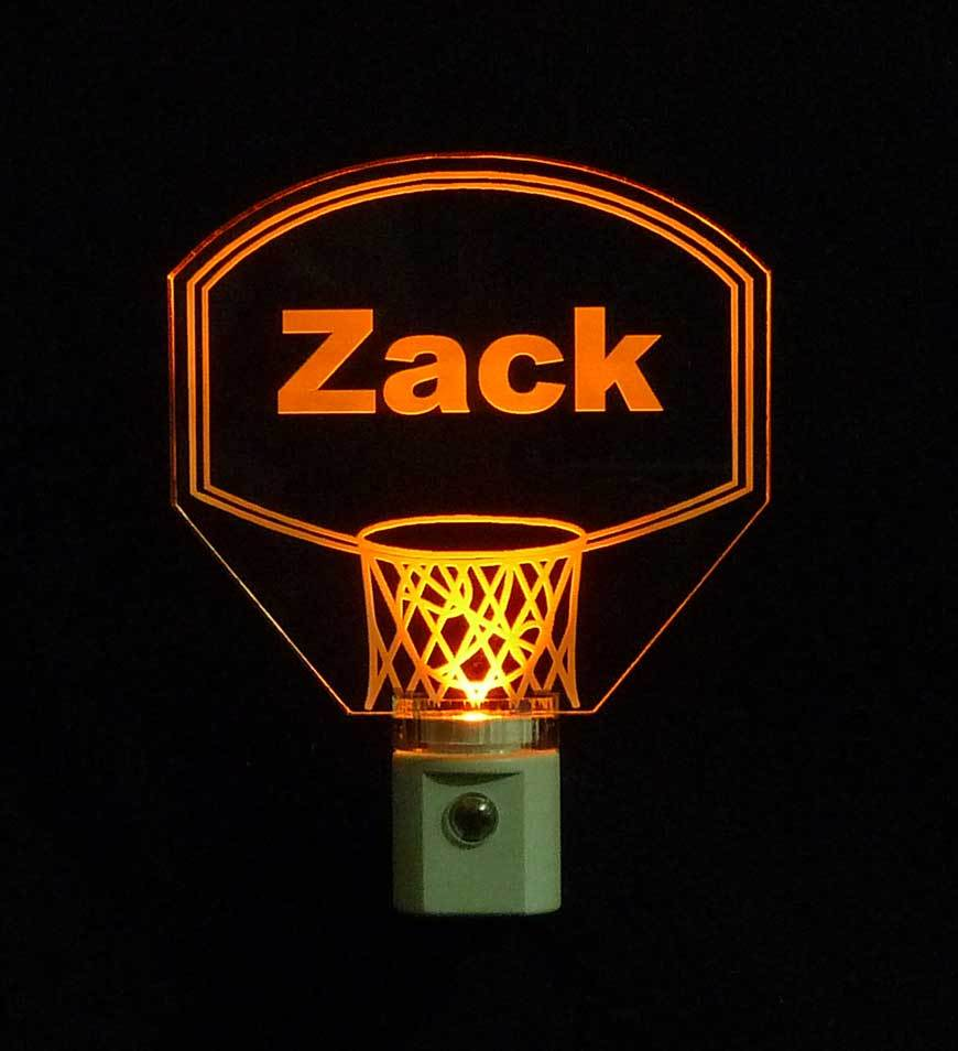 Personalized Kids Basketball Hoop LED Night Light with Name  image 5