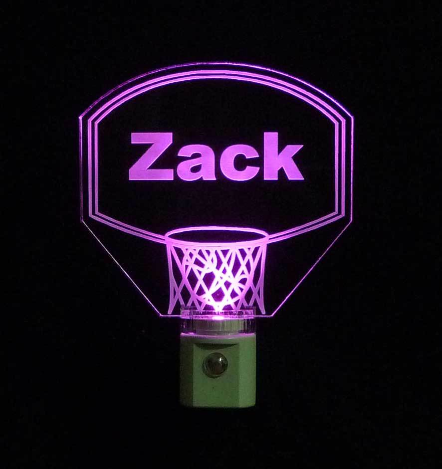 Personalized Kids Basketball Hoop LED Night Light with Name  image 6