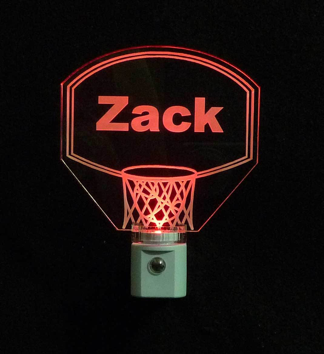 Personalized Kids Basketball Hoop LED Night Light with Name  image 3