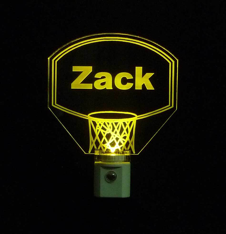 Personalized Kids Basketball Hoop LED Night Light with Name  image 4