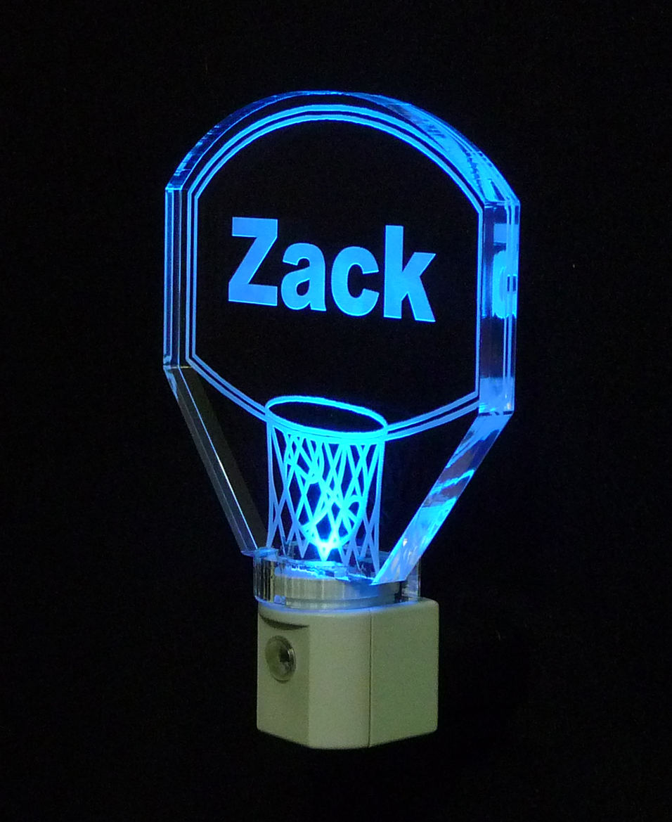 Personalized Kids Basketball Hoop LED Night Light with Name  image 2