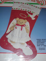 Angel Bear Christmas Stocking Stitchery Kit by Bucilla* - $58.90