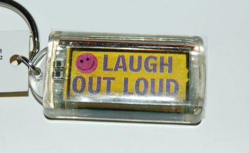 Ganz Solar Powered Flashing Laugh Out Loud Key Chain Smiley Faces