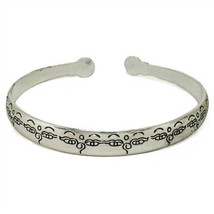 Long Tibetan Delicately Carved Repetitive Buddha Eye Dorje Amulet Cuff B... - $7.40