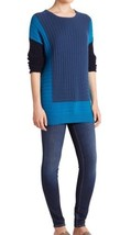 NWT Vince Wool And Cashmere Blend Colorblock Sweater Size L Teal-bay - $999.00