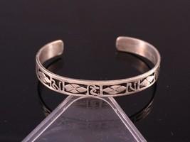 Tibetan Multi Pane Carved Spaced Mantra OM Mani Padme Hum Amulet Cuff Bracelet - $7.15