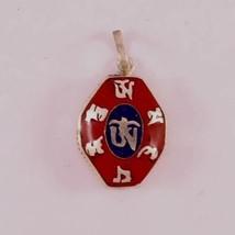 Delicate Tibetan Lapis Coral Carved Om Mani Octagonal Ghau Prayer Box Pe... - $11.53