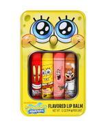 SpongeBob Squarepants Flavored Lip Balm Gloss 4 Tube Tin Apple Cherry Fruit New - $6.99
