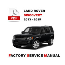 2013 2014 2015 Land Rover Discovery 4 LR4 L319 Repair Service Workshop Manual - $14.95