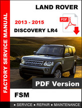 Land Rover Discovery 2013 2014 2015 Workshop Maintenance Manual - $14.95