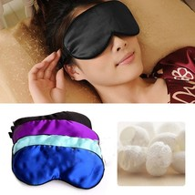 Pure Silk Sleep Eye Mask Padded Shade Cover Travel Relax Aid Blindfold E... - $3.86 CAD