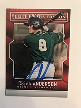 Brian Anderson Signed Autographed 2014 Panini Elite Baseball Card - Miam... - $7.91