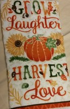 AUTUMN theme KITCHEN SET 2-piece Towel Potholder Grow Laughter Harvest Love NEW image 5