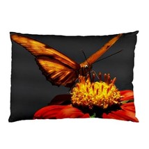 NEW PILLOW CASE HOME DECOR Beautiful Red Butterfly Nectar - $26.99