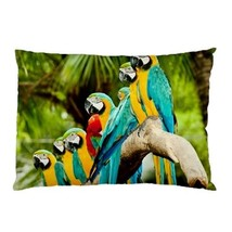 NEW PILLOW CASE HOME DECOR Many Parrot Macaws - $26.99