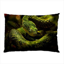 NEW PILLOW CASE HOME DECOR Wild Reptile Snake Viper - $26.99