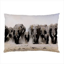 NEW PILLOW CASE HOME DECOR Running Elephants Wild Nature - $26.99