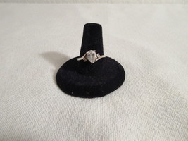 Vintage Sterling Silver Solitaire Pear Shape Ring - Size 7 - €18,65 EUR