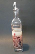 OLIVE OIL VINEGAR DISPENSER Vineyard Mediterranean Tuscan Glass Bottle Cruet NEW image 5