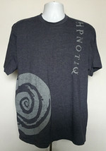 Hpnotiq Liqueur T Shirt Mens XL Swirl Logo Blue 100% cotton - $21.73