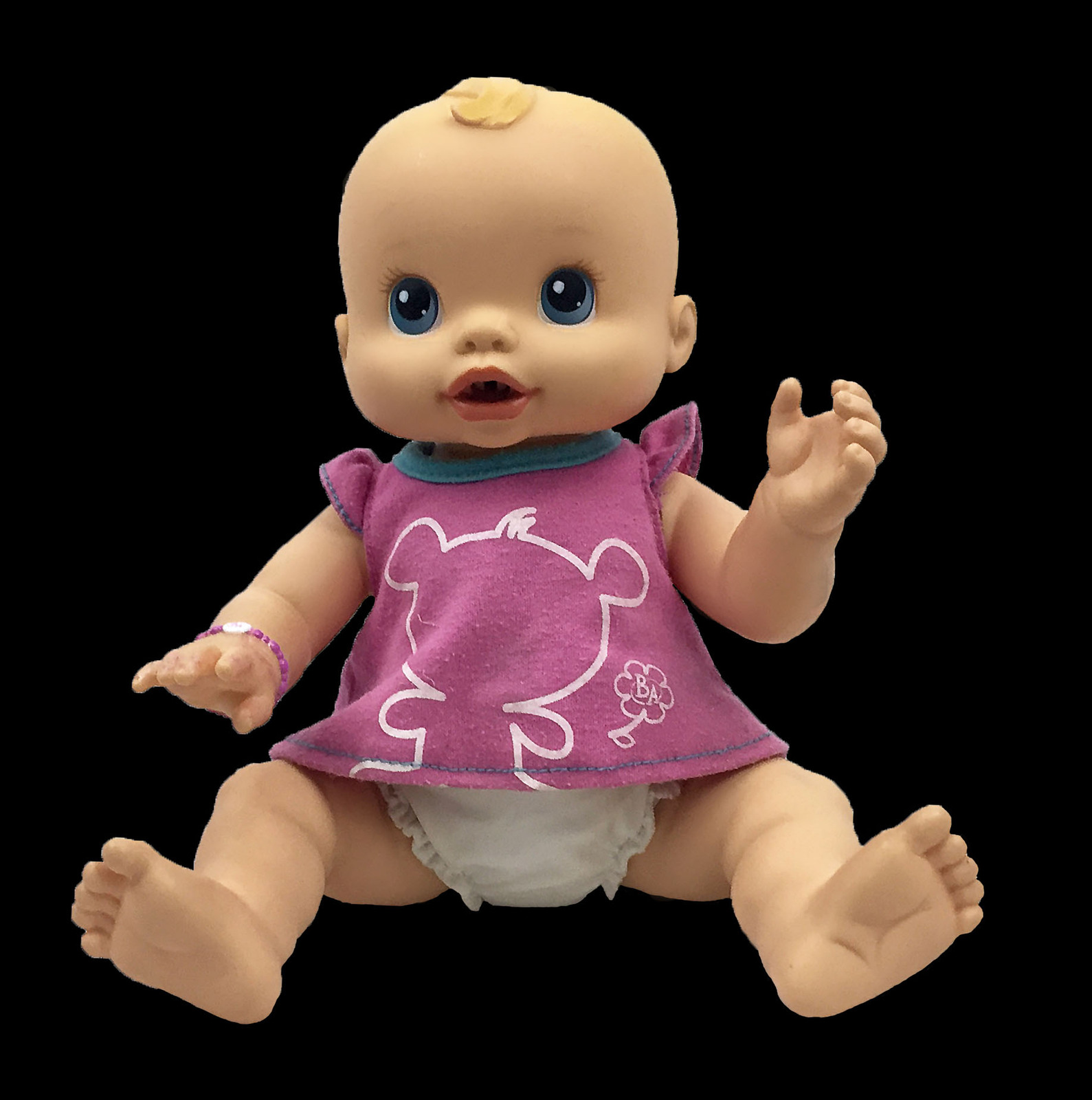 Baby Alive Wet And Wiggles Doll With Extra Clothes Puddle