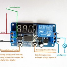 1pcs LED Display DC 12V Digital Delay Timer Control Switch Module PLC Au... - $8.66