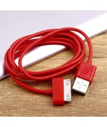 The Day Delivery Via DHLUSB Red Charger Sync Data Cable for iPad2 3 iPho... - $2.38