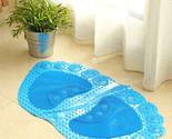 Feet Shape PVC slip bath mats doormat non-slip bath mat with massage function to