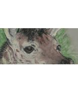 Giraffe Art Pastel Drawing Solomon - $42.00