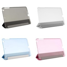 New Ultra Slim Tri-Fold PU Leather Case with Crystal Hard Back Smart Sta... - $8.50