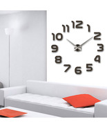 【Creative Wall Clock】Home decoration 3d mirror clocks fashion personalit... - $18.84