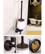 European Antique Toilet Cup Holder Wall Mounted Toilet Brush Holder rack... - $81.66